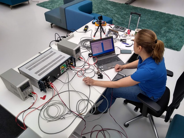 The control and data acquisition part of the mobile test facility designed and constructed by HDES. Credit: HDES
